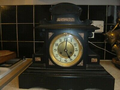 £59.99 • Buy Antique French Slate Marble Mantel Clock Architectural Ornate
