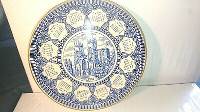 £5 • Buy York Minster Collector Plate 1985 Calendar Year. Masons For Ringtons Limited.