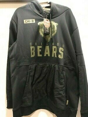 $61 • Buy Men's 2020 Chicago Bears Mens Sideline Therma Salute To Service Hoodie - XL