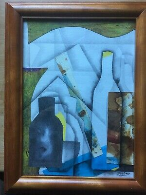 £20 • Buy Abstract Ben Nicholson Style Mixed Medium Painting By Dean Ashby, Framed, No Res