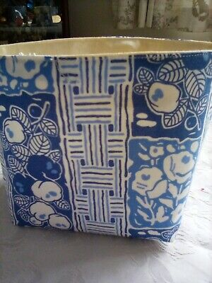 £4.50 • Buy Lady Rose Downtown Abbey Fabric Handmade Storage Basket  Lined.