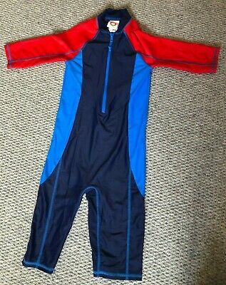 £1 • Buy Boys Blue And Red All In One Swimsuit From John Lewis Age 7 Yrs