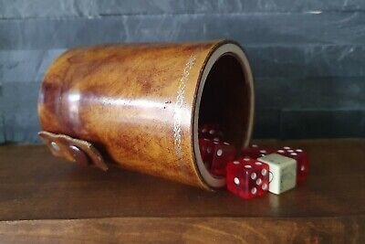 £14.99 • Buy Vintage Rustic Dice Game Dice Shaker Cup For MTG TRPG DND Props