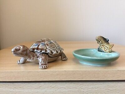 £4.70 • Buy Vintage Wade Tortiose Trinket Dish - Removable Lid/Shell & Trout Whimtray VGC