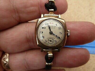 $ CDN156.95 • Buy Vintage Longines 9 Ct Gold Case 16? Jewels  Watch With Fabric/rolled Gold Strap