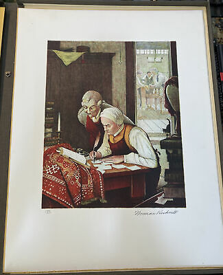 $ CDN871.46 • Buy NORMAN ROCKWELL Pencil Signed YE OLDE PRINT SHOPPE Numbered LIMITED EDITION