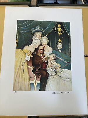 $ CDN871.46 • Buy NORMAN ROCKWELL Pencil Signed BEN'S BELLES Numbered Limited Edition S/N