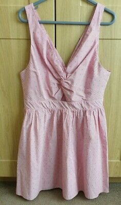 £3.50 • Buy New Look Red White Pink Skater Dress, Cut Out, Summer Dress, Size 14, Striped