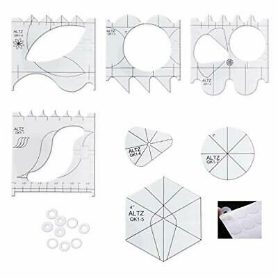 $31.82 • Buy ALTZ Free Motion Quilting Templates For Machine Quilting - Includes 7 Quilt T...