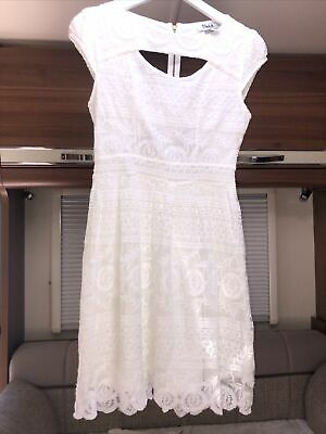 £1 • Buy Ladies White Cut Out Back Summer Dress Size S