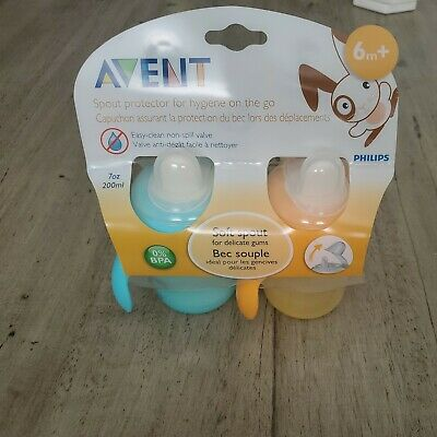 £17.45 • Buy Philips AVENT Soft Spout Non Spill 200ml 6m+ Sippy Cups 2 Pack