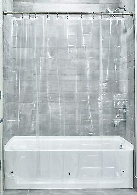 £5.39 • Buy 3.0 Liner Shower Curtain, Bathroom Shower Curtain Made Of Mould-Free PEVA, Clear