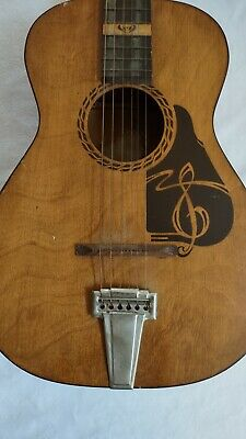 $ CDN407.52 • Buy Vintage 1950s Silvertone The Prep Acoustic Guitar Great Condition Hard To Find