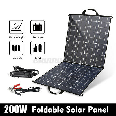 £128.52 • Buy 200W Foldable Mono Solar Panel 12V Battery Charge Controller Caravan For   &