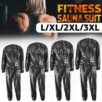 AU18.50 • Buy Fitness Sweat Sauna Suit Exercise Gym Clothes Training Weight Loss Anti-Rip