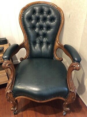 AU300 • Buy Stunning Chesterfield Style Antique Leather Chairs