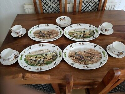 £20 • Buy Beautiful Vintage Bone China 4 Place Teaset By Argyle With Pheasants Excellent