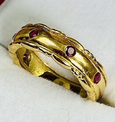 £595 • Buy THEO FENNELL - 18ct GOLD & RUBY SET ETERNITY RING