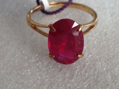 £195 • Buy NWT TJC AAA 10carat Solitaire African Ruby Ring Size V , See Pics .