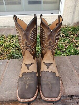 $70 • Buy LARREA BOOTS, Mens Cowboy Western Brown Genuine Leather Size 11.5 E