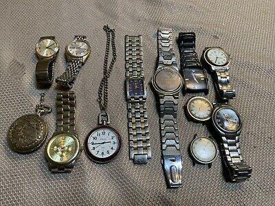 $15 • Buy Mens Watch Lot Timex Seiko Fossil Parts, Other