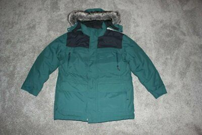 $299.96 • Buy The North Face Green Black Parka Puffer Jacket Coat Fur Down Mens Size XL NEW