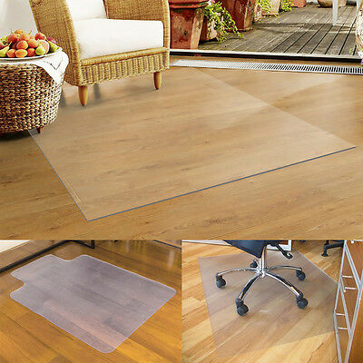 £12.99 • Buy 900X1200 Frosted Non Slip Office Chair Desk Floor Protector PVC Plastic New UK
