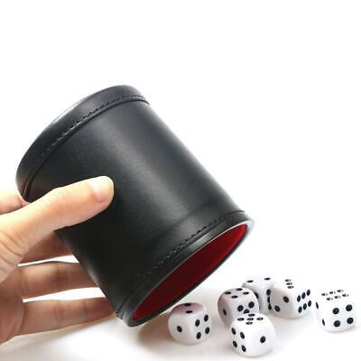 £8.59 • Buy 2PCs Professional PU Leather Dice Cup Board Game With Five Dice Bicast Shaker