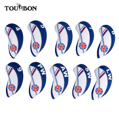AU19.96 • Buy Tourbon 10pcs Neoprene Golf Clubs Set Iron Head Covers Fit For Callaway, Ping