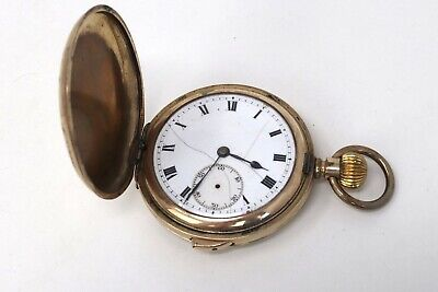 £32 • Buy Antique 1920's Gold Plated Full Hunter Repeater Top Wind Pocket Watch A/F #760