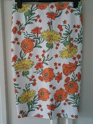 £4.99 • Buy River Island, Floral Tube Skirt. Size 12. Nwt