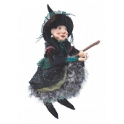 £37.50 • Buy Witches Of Pendle *elizabeth Device  Green 45 Cm Flying  Witch Info Book Pagan