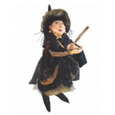 £37.50 • Buy Witches Of Pendle *elizabeth Device  Gold 45 Cm Flying  Witch Info Book Pagan