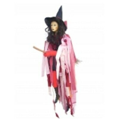 £32.50 • Buy Witches Of Pendle *crystal  Red Flying Witch 65 Cms  Info Book Pagan/ Occult