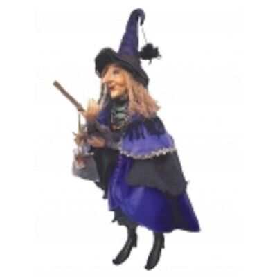 £47.50 • Buy Witches Of Pendle Large *alice Nutter  Purple 50 Cm Flying Witch Info Book Pagan