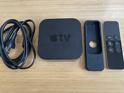 AU121.96 • Buy Apple TV HD 32GB (4th Generation) A1625 With Silicone Remote Case