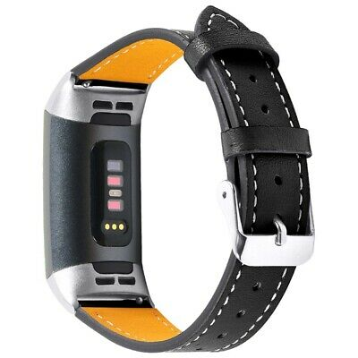 AU13.17 • Buy For Fitbit Charge 3 Charge4 Bands Leather Straps Band Smart Watch Band Blac G9D8