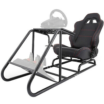 £219.99 • Buy Racing Simulator Cockpit Driving Seat Gaming Chair PVC Leather Reinforced Sturdy