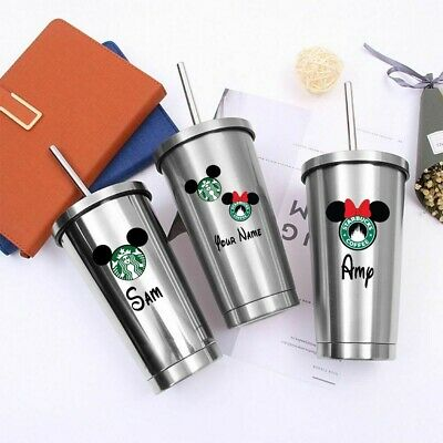 £17 • Buy Personalised Starbucks Tumbler Cold/hot Cup With Straw Disney Minnie Or Mickey