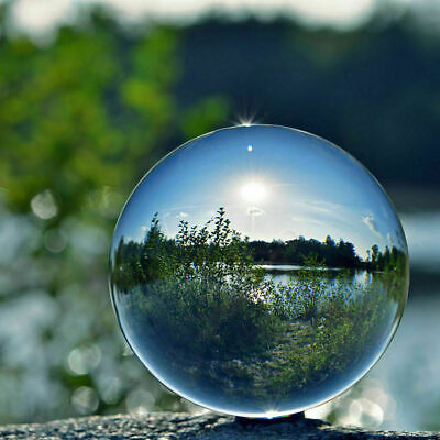 £5.49 • Buy 60/80/100mm Clear Glass Crystal Ball Glass Lens Sphere Photography Decoration UK