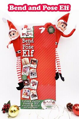 AU19.90 • Buy Sitting 36cm Bend And Pose Elf Christmas Naughty Toys On The Shelf Decoration