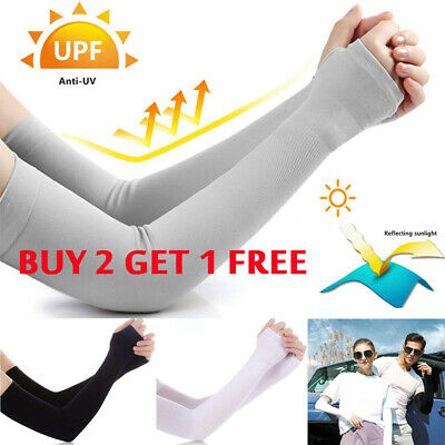 £3.23 • Buy 1 Pair Outdoor Sports Arm Sleeves UV Sun Protection Breathable Arm Warmers Cover