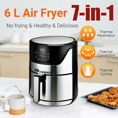 View Details Air Fryer 6L Power Oven 1800W Cooker Oil Free Cook Low Fat Healthy Frying Chips • 64.99£
