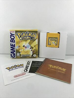 $359.99 • Buy Nintendo Gameboy Pokemon Special Pikachu Edition Yellow Version Complete In Box!