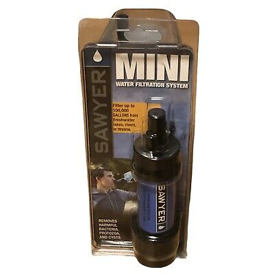 AU76.48 • Buy Sawyer MINI WATER FILTRATION SYSTEM Filters Up To 100,000 Gallons TRAVEL CAMPING