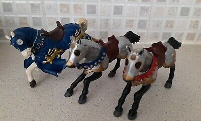 £10 • Buy Papo Blue King Richard's Horse & Two Medieval Knight Horses