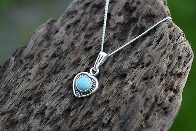£16.99 • Buy Native American 925 Sterling Silver Turquoise Heart Necklace