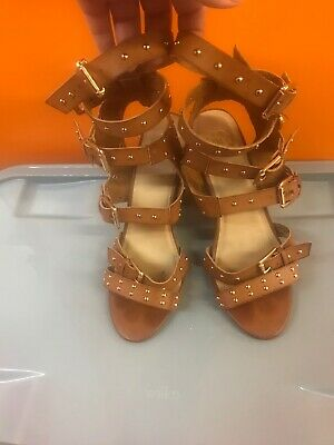 £14.99 • Buy Missguided Tan Buckle Gladiator Sandals Shoes Size 7 EU 40 Summer Holiday Buckle