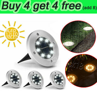 £5.44 • Buy LED Solar Power Ground Lights Floor Decking Patio Outdoor Garden Lawn Path Lamps