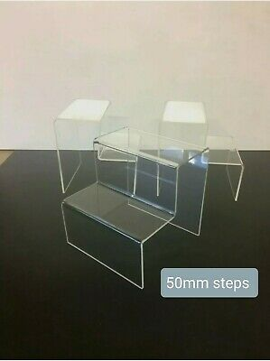 £9.99 • Buy Funko Pop Plastic Counter Display Stands 50mm Steps  X3